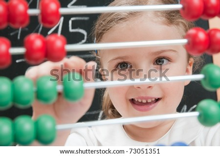 Back to school - mathematics lesson - stock photo