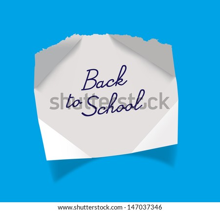 Back to school message - stock photo
