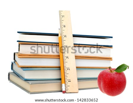 Back to school on course books - stock photo