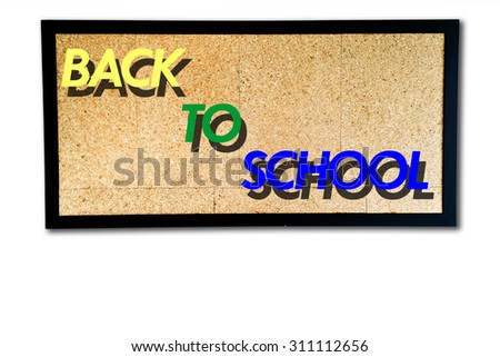 Back to school plywood board is a type of strong thin wooden board consisting of two or more layers glued and pressed together with the direction of the grain alternating. - stock photo