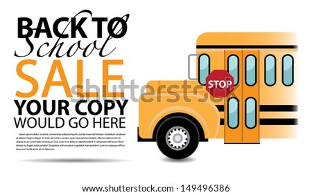 Back to School Sale Background Template. jpg - stock photo