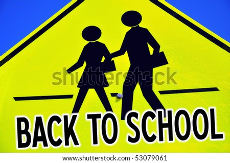 Back To School Sign - stock photo