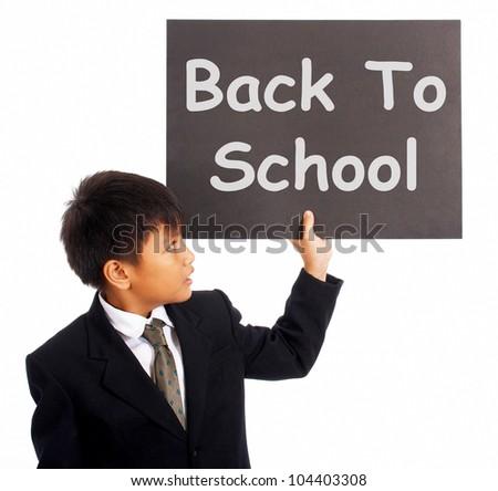 Back School Sign Boy Symbol Education Stock Illustration 104403308