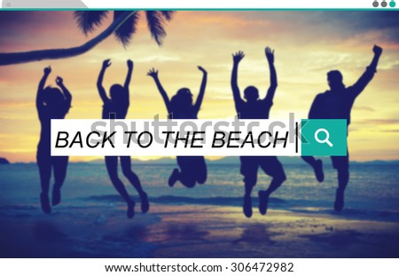 Back To The Beach Relaxation Tropical Beach Concept - stock photo