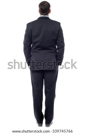 Back view of a business person - stock photo