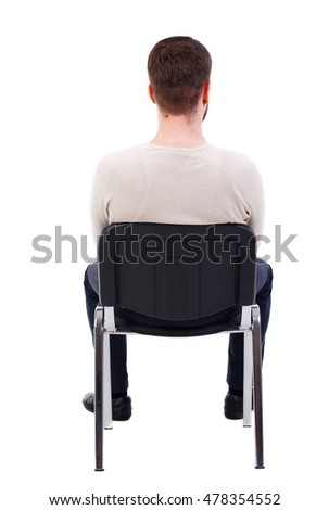 person sitting in chair back view png. Back View Of Business Man Sitting On Chair. Businessman Watching. Bearded In A Person Chair Png U