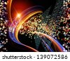 Backdrop of  chemical icons, fractal graphics and design elements to complement your design on the subject of chemistry, biology, pharmacology and modern science - stock photo