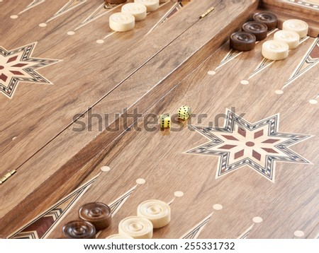 Backgammon isolated - stock photo