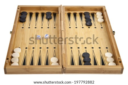 backgammon on a white background - stock photo