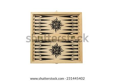 Backgammon on a white background - stock photo