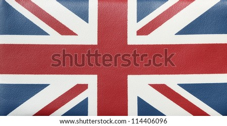 Background. A flag of England on an artificial skin.