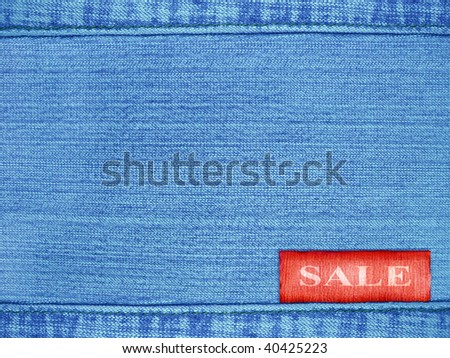 Background - a material of jeans of dark blue color