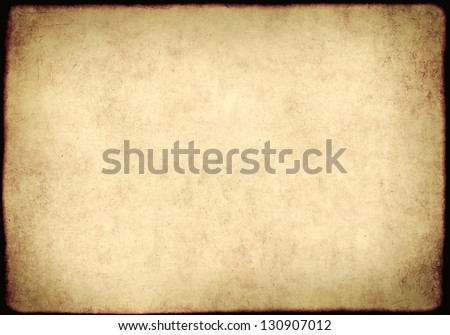 Background - a sheet of the old, soiled paper - stock photo