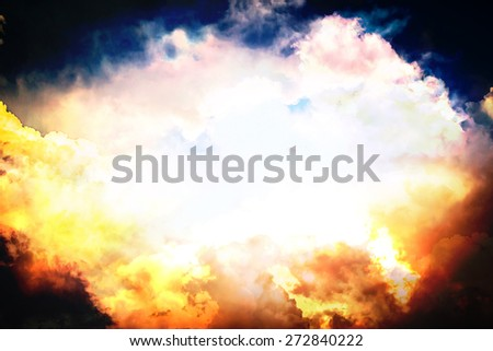 Background abstract colorful sky and clouds on wall