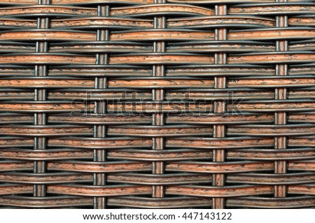 Background and pattern from Handicraft rattan - stock photo