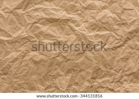 background and texture of brown crumpled paper - stock photo