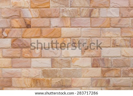 background and texture vintage style of decorative  brown color nature real stone wall - stock photo