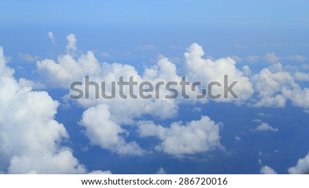 Background and texture with Clouds in the sky - stock photo