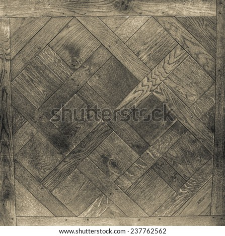 Background. Antique modular flooring. Figure Versailles, black and white. - stock photo