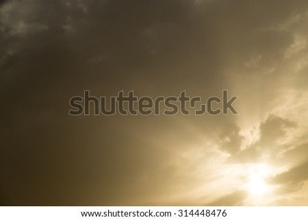 background beautiful clouds in the sky at sunset - stock photo