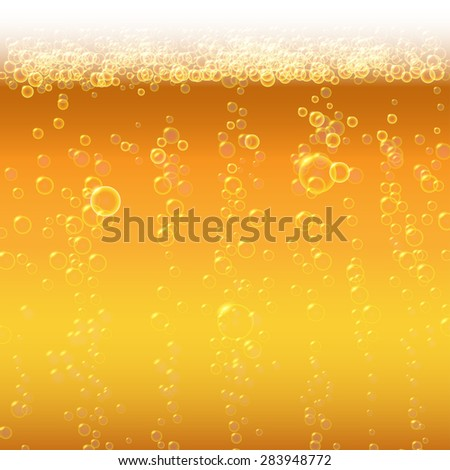 Background beer with foam and bubbles. - stock photo