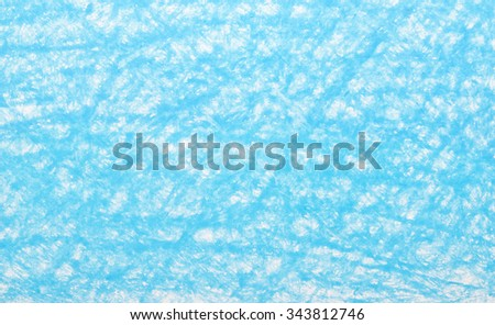 Background blue crayon drawing texture - stock photo