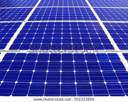 background blue mono solar cell