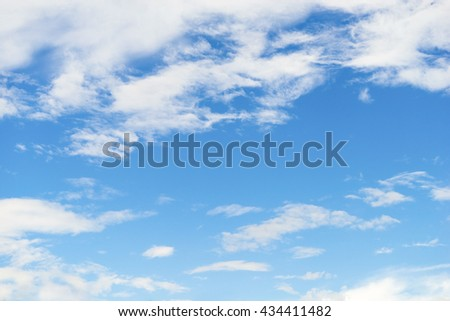 Background, blue sky background with tiny clouds