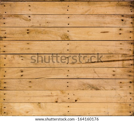 background Brown color nature  pattern detail of pine wood decorative old box wall texture furniture surface - stock photo