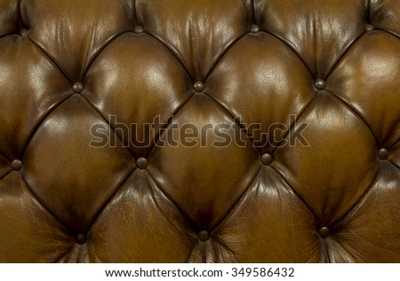 Background button leather vintage sofa