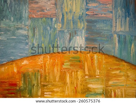 background canvas oil painting - stock photo