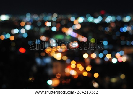 background city blurred blur wall lights night abstract focus dark wallpaper colorful nigntlife - stock photo