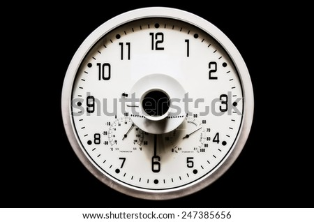 background Clock Coffee - stock photo
