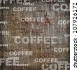 Background coffee texture vintage burlap - stock photo