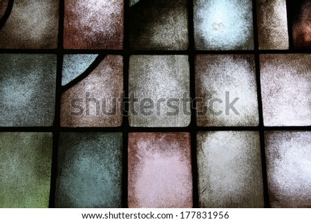 background colors on a window - stock photo