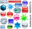 Background colourful web design elements ready for you to add messages or icons. No blends or meshes used - stock vector