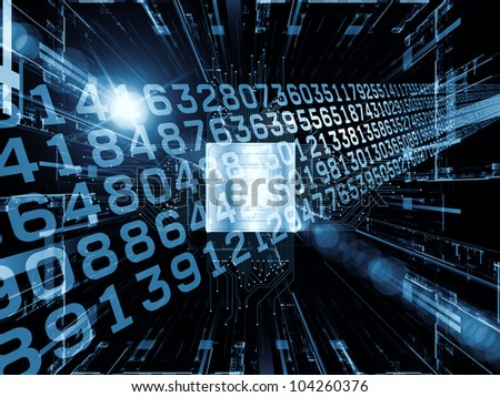 Background composition of  technological and abstract design elements to complement your layouts on the subject of digital equipment, computing and modern technologies - stock photo