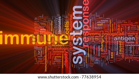 Background concept illustration Immune system health glowing light - stock photo