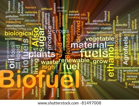 Background concept illustration of biofuel renewable fuel glowing light - stock photo