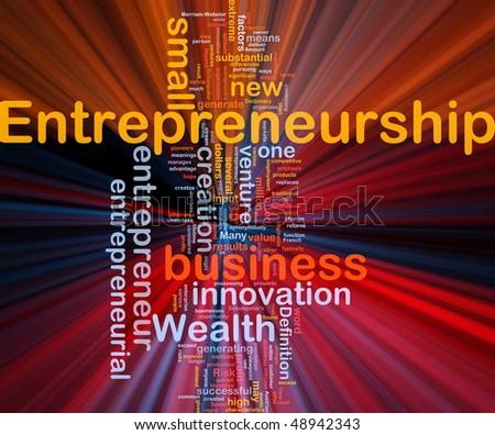 Background concept illustration of business entrepreneurship entrepreneur glowing light - stock photo