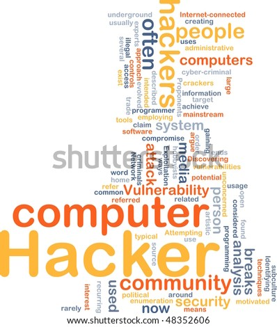 Background concept illustration of computer hacker attack - stock photo