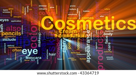 Background concept illustration of cosmetics beauty products glowing light effect