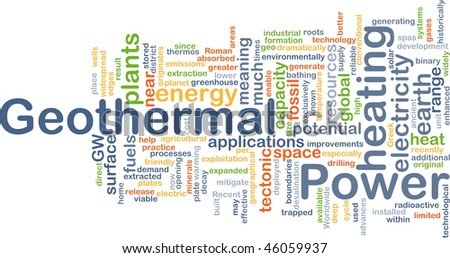Background concept illustration of geothermal heating power