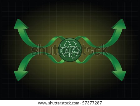 Background concept with a recycling theme with copy space for own text - stock photo