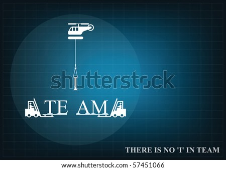 Background concept with a teamwork theme with copy space for own text - stock photo