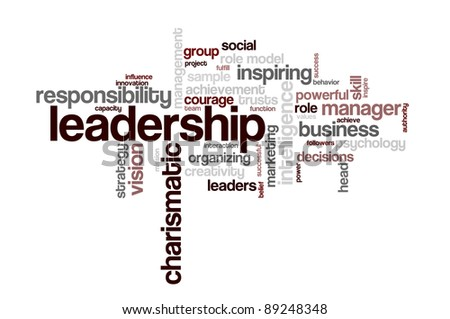Background concept word cloud illustration of leadership