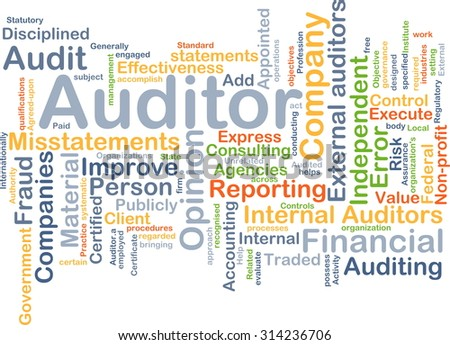 Background concept wordcloud illustration of auditor - stock photo