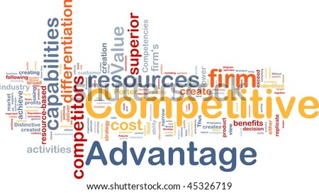 Background concept wordcloud illustration of business competitive advantage - stock photo