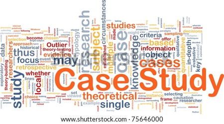 Background concept wordcloud illustration of case study - stock photo