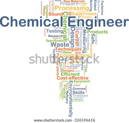 Background concept wordcloud illustration of chemical engineer - stock photo